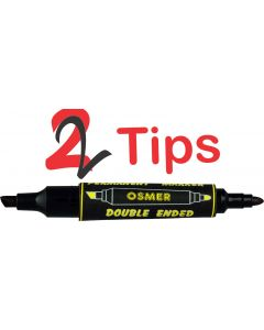 OSMER DOUBLE ENDED MARKER - DOZEN - BLACK - OS1701