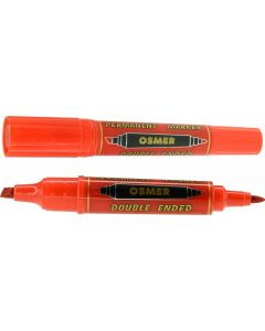 OSMER DOUBLE ENDED MARKER - DOZEN - RED - OS1703