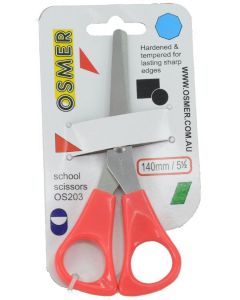 OSMER 140mm SCHOOL SCISSORS - RED HANDLE - OS203
