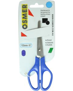 OSMER 153mm SCHOOL SCISSORS - BLUE - WIDE HANDLE - OS205