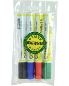 OSMER WHITEBOARD MARKER - 4 COLOUR WALLET - OS519W