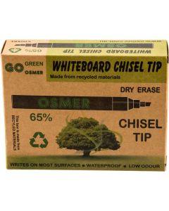 OSMER CHISEL TIP WHITEBOARD MARKER - ASSORTED - OS819