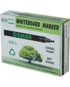 OSMER CHISEL TIP WHITEBOARD MARKER - ASSORTED - OS819