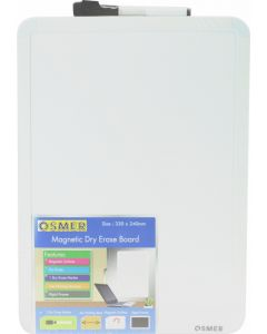 A4 WRITING SURFACE WHITEBOARD WITH BLACK MARKER - OW3324