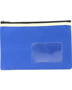 POLYESTER PENCIL CASE - 1 ZIP - 23 X 15.5 CM - BLUE - P2315B