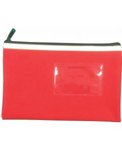 POLYESTER PENCIL CASE - 1 ZIP - 23 X 15.5 CM - RED - P2315R