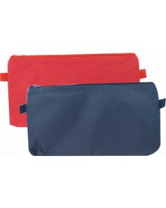 POLYESTER 600D HIGH QUALITY - 1 ZIP - RED & BLUE - 34 X 17 CM - POL3417RB