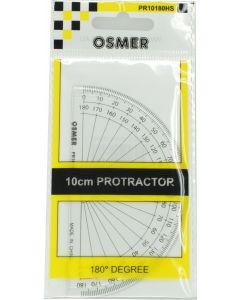 OSMER 180 DEGREE 10CM PROTRACTOR - HANGSELL - PR10180HS