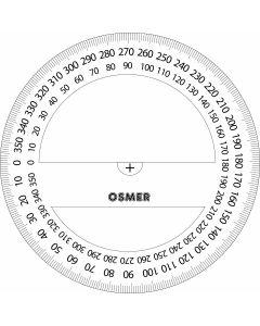 OSMER 360 DEGREE 10CM PROTRACTOR - PR10360