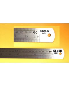 OSMER STAINLESS STEEL RULE - 600mm/ 24inches  DUAL SCALE - 60/24