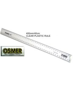 OSMER PREMIUM 40CM/400MM - PLASTIC RULER - CLEAR - PACK OF 24 - 40P