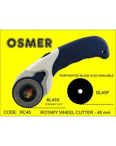 OSMER ROTARY WHEEL CUTTER - 45mm BLADES - RC45