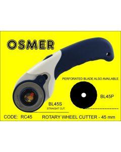 OSMER ROTARY WHEEL CUTTER - 45mm BLADES - RC45