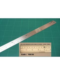 OSMER STAINLESS STEEL RULE - 100cm/36inches DUAL SCALE - 100/36