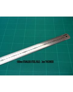 OSMER STAINLESS STEEL RULE - 1000mm METRIC SCALE - 100