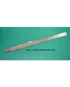 OSMER STAINLESS STEEL RULE - 45cm/18inch DUAL SCALE - 45/18