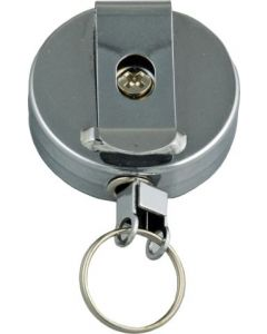 RETRACTABLE KEY RING - METAL CASE - RR902