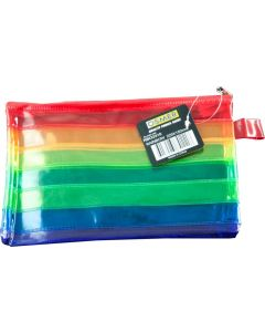 RAINBOW MULTI-COLOURED WELDED PVC STRIPES - SMALL 22.5 X 15CM - RBO2315