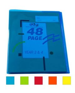 "9"" X 7"" TINTED BOOK COVER - PACK OF 5 - BC9719"