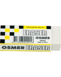 PENCIL ERASER SIZE 20 PLASTIC ERASER - BOX OF 20 - OE222