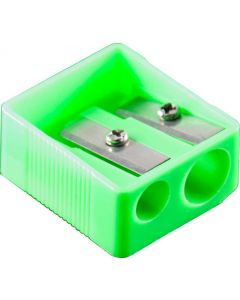 2 HOLE PLASTIC SHARPENER - BOX OF 24 - PS8020