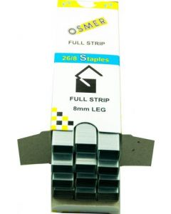 26/8 OSMER FULL STRIP STAPLES - BOX 5000 - 26/8