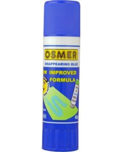 OSMER GLUE STICK -  DISAPPEARING BLUE 40 GRAM - TRAY OF 10 - OG40B