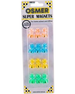 SUPER STRONG MAGNETS - 4 COLOURS - SM12