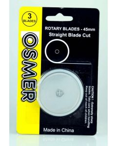 OSMER ROTARY WHEEL CUTTER BLADE - STRAIGHT - PACK OF 3 - BL45S