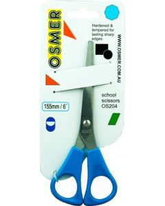 OSMER 155mm SCHOOL SCISSORS - BLUE HANDLE - OS204