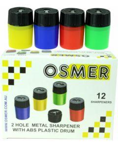 2 HOLE PP DRUM SHARPENER - BOX OF 12 - PS8175