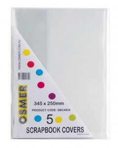 SCRAPBOOK COVER - CLEAR - PACK OF 5 - SBC4934