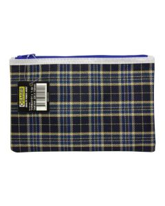 TARTAN BLUE DESIGN PENCIL CASE - SMALL 23 X 15.5CM - TARB23151