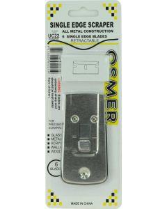 SCRAPER - METAL RETRACTABLE WITH 5 SPARE BLADES - UC22