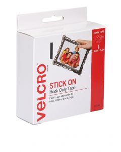 DISPENSER BOX  - VELCRO® BRAND  STRIP HOOK ONLY - WHITE - V20140