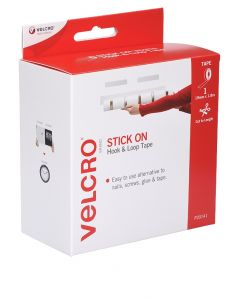 DISPENSER BOX - VELCRO® BRAND  STRIP HOOK & LOOP -  WHITE - V20141