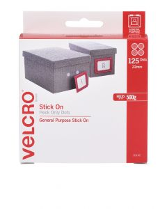DISPENSER BOX - VELCRO® BRAND  SPOT HOOK ONLY - WHITE - V20142