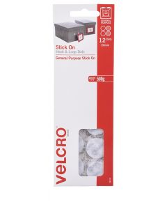 HANGSELL - VELCRO® BRAND HANDY DOTS  - 22mm HOOK & LOOP - WHITE - V24506